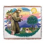 St.Francis #2 / Pekingese #1 Woven Blanket