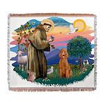 St.Fran #2/ Poodle (Std-ap) Woven Blanket