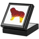 Bergamasco Flames Keepsake Box