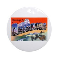 Arkansas Greetings Ornament (Round)