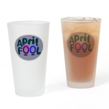 April Fools Day Drinking Glass