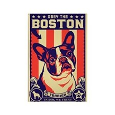 Obey the BOSTON Terrier! USA Magnet