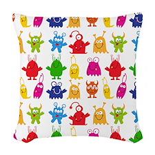 Monster Pattern Woven Throw Pillow