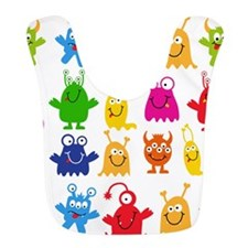 Monster Pattern Bib