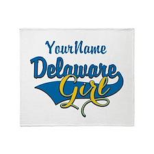 Delaware Girl Throw Blanket