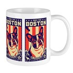 BOSTON Terrier USA Propaganda Mug