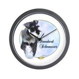 Std. Schnauzer Portrait Wall Clock