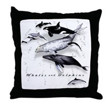 Cute Porpoise Throw Pillow