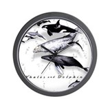 Cute Whales Wall Clock