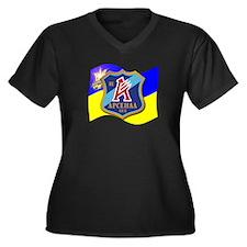 Arsenal Kiev Women's Plus Size V-Neck Dark T-Shirt