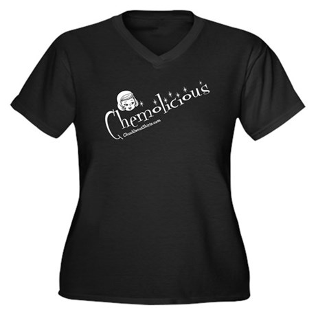 Chemolicious Women's Plus Size V-Neck Dark T-Shirt