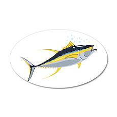 Yellowfin Tuna Fish Wall Decal