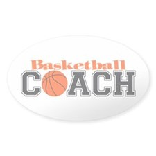 Basketball Coach Oval Decal