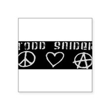 "Funny Todd Square Sticker 3"" x 3"""