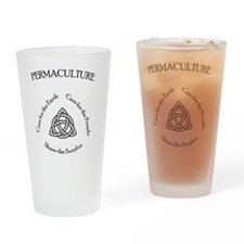 Permaculture Ethics Drinking Glass