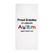 Grandma Autism Beach Towel