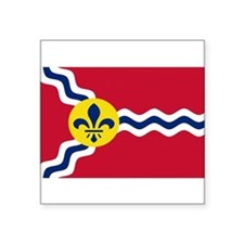 "Cute St. louis Square Sticker 3"" x 3"""