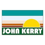 John Kerry Retro Sunrise Rectangle Sticker