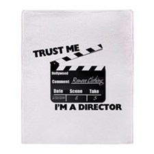 Trust Me I'm A Director Clapboard Throw Blanket