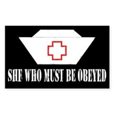 She Who Must Be Obeyed Rectangle Decal