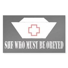 She Who Must Be Obeyed Rectangle Stickers