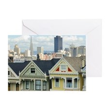 Alamo Square roofline Greeting Card