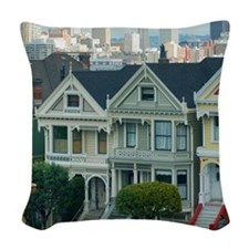 Painted Ladies Woven Throw Pillow