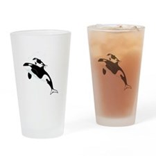 Killer Orca Whales Drinking Glass