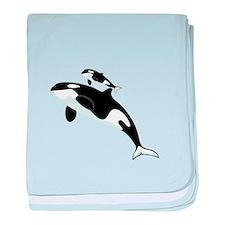 Killer Orca Whales baby blanket