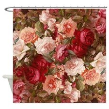 Floral Pink Roses Shower Curtain