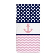 Cute Nautical Beach Towel