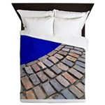 Cobble Stones With Cobalt Blue Queen Duvet