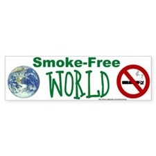 Bumper Sticker: Smoke-Free World
