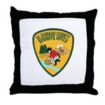 El Dorado County Sheriff Throw Pillow