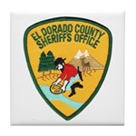 El Dorado County Sheriff Tile Coaster
