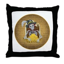 SKELETON PIRATE Throw Pillow