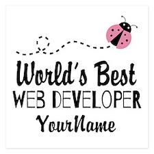 World's Best Web Developer Invitations