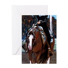 Paint Horse Western Pleasure Greeting Cards