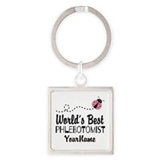 World's Best Phlebotomist Square Keychain