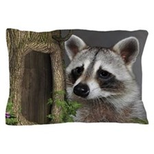 Raccoon Portrait Pillow Case