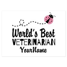 World's Best Veterinarian 5x7 Flat Cards