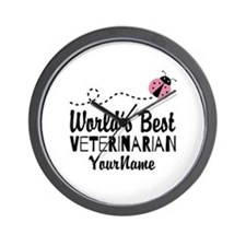 World's Best Veterinarian Wall Clock