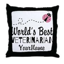 World's Best Veterinarian Throw Pillow