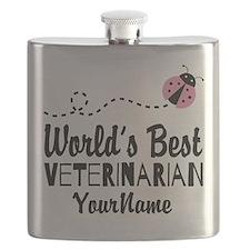 World's Best Veterinarian Flask