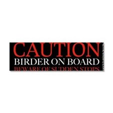 Cute Birdwatchers Car Magnet 10 x 3