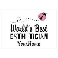 World's Best Esthetician 5x7 Flat Cards