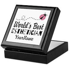 World's Best Esthetician Keepsake Box