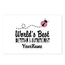 World's Best Dietitian Postcards (Package of 8)