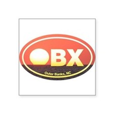 "Cute Outer banks nc Square Sticker 3"" x 3"""