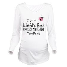 World's Best Massage Long Sleeve Maternity T-Shirt